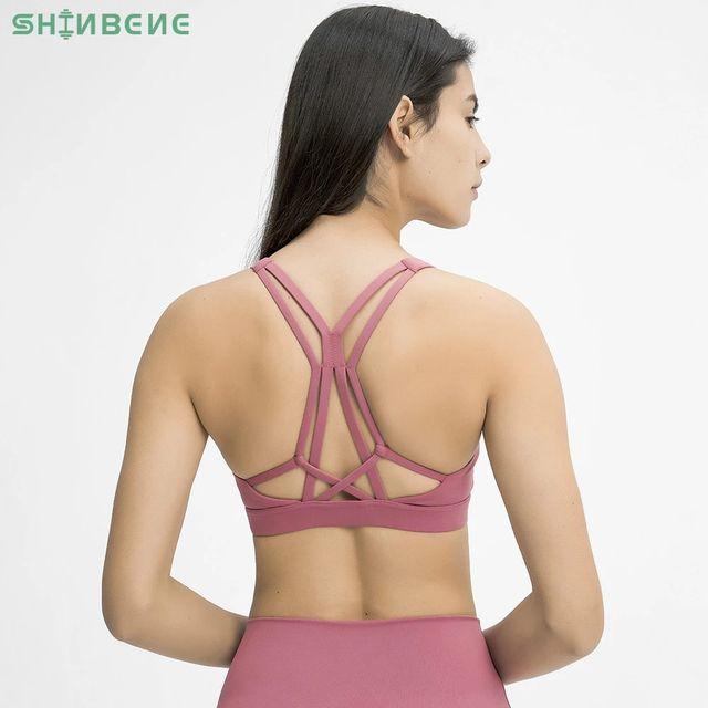 [해외] SHINBENE 아름다운 Strappy 운동 스포츠 브라 탑 여성