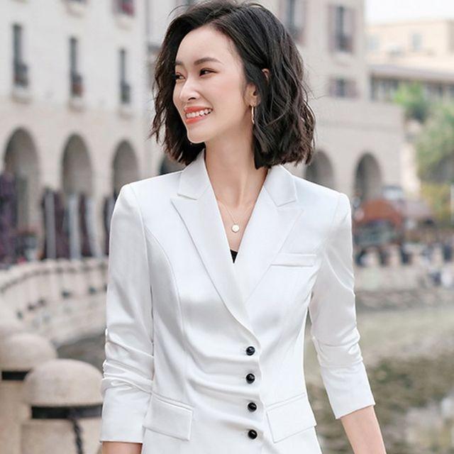 [해외] 여성 패션 재킷 자켓 정장세트인 OL 전문 착용