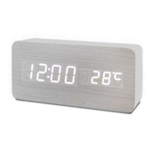 사각형 우드 디지털시계 C타입 책상시계 탁상시계