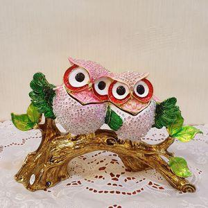 사이좋은부엉이보석함(핑크) 선물 인테리어 신혼 개업