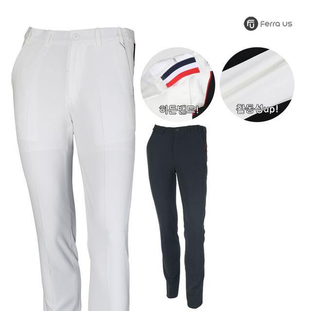 W TCC_페라어스 남성 스판 니트 배색 골프 바지 CPMP307