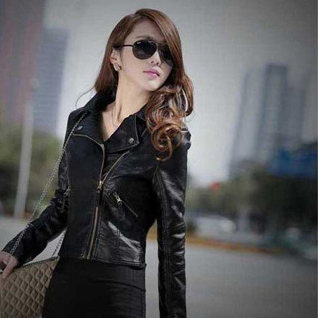 W 스타일 가죽 자켓 여성 멋내기 연출 패션 개성 코디