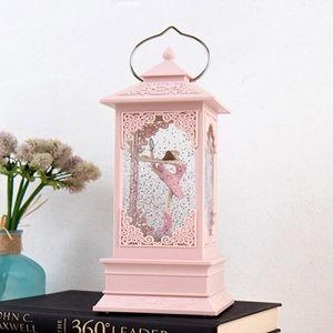 데코소품 선물 회전 발레리나 워터볼 오르골 핑크