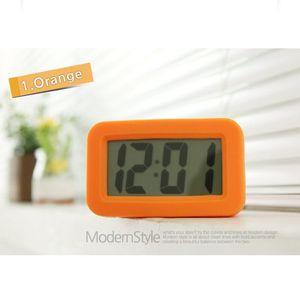 모던 스퀘어 디자인 LCD 조명 탁상용 알람 시계