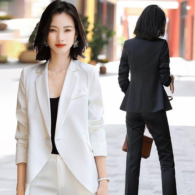 [해외] 여성 패션 재킷 자켓 정장세트 그물 빨간색 정장
