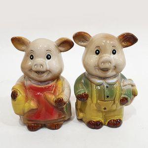 바구니든 돼지 장식소품 18018