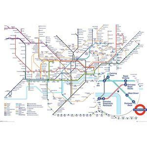 GN0869 런던 지하철 노선도(Underground Map)포스터만