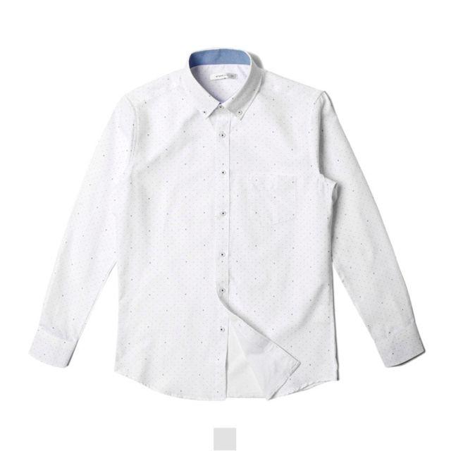 남자셔츠 샵 패턴 긴팔 셔츠 120size