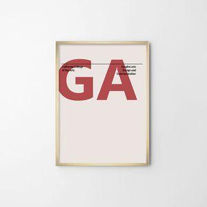 타이포 일러스트(GRAPHIC ARTS) 벽장식 아트 포스터