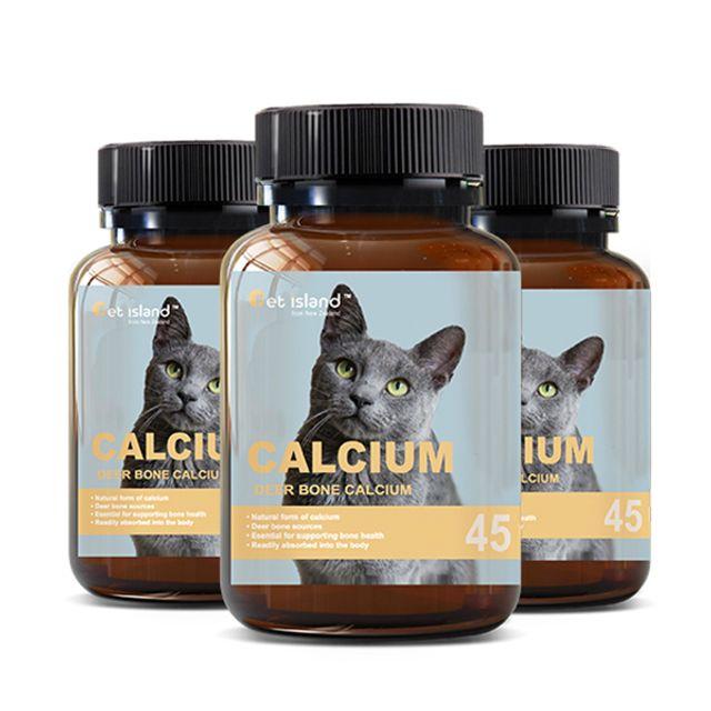 [해외] 펫아일랜드 칼슘사슴뼈 (고양이전용) 45캡슐