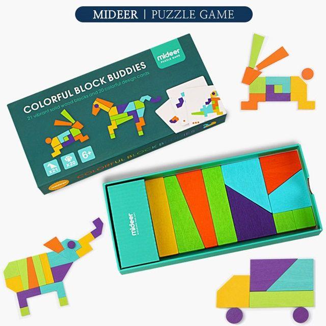 패턴카드 원목 도형 퍼즐 학습놀이 창의력 두뇌개발