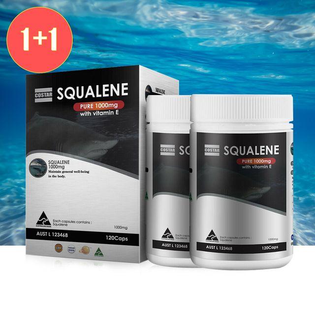 [해외] 호주 코스타 스쿠알렌 1000mg 비타민E 120캡슐 2개