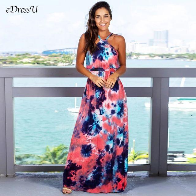 [해외] 2020 여름 드레스 여성 보헤미안 프린트 맥시 드레스