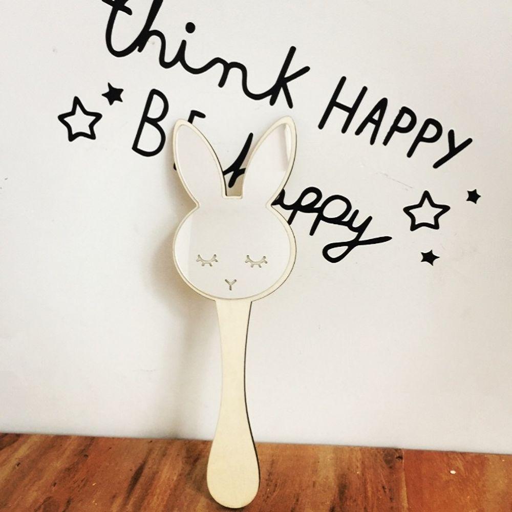 [F8BC81] 토끼아크릴거울 귀여운손거울 동물손거울 토끼손거울 안전거울 아기거울 인테리어거울 아기안전거울 핸드미러 캐릭터손거울