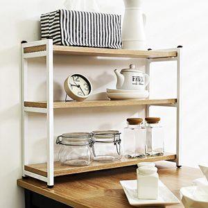 주방 식탁 책상 철제 원목 스틸 다용도 3단 선반