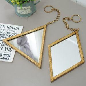 빈티지 도형 거울 (삼각/마름모)