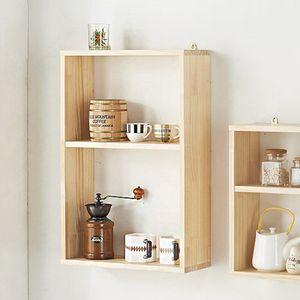 실내 디자인 거실 카페 공방 꾸미기 2단 세로 벽선반