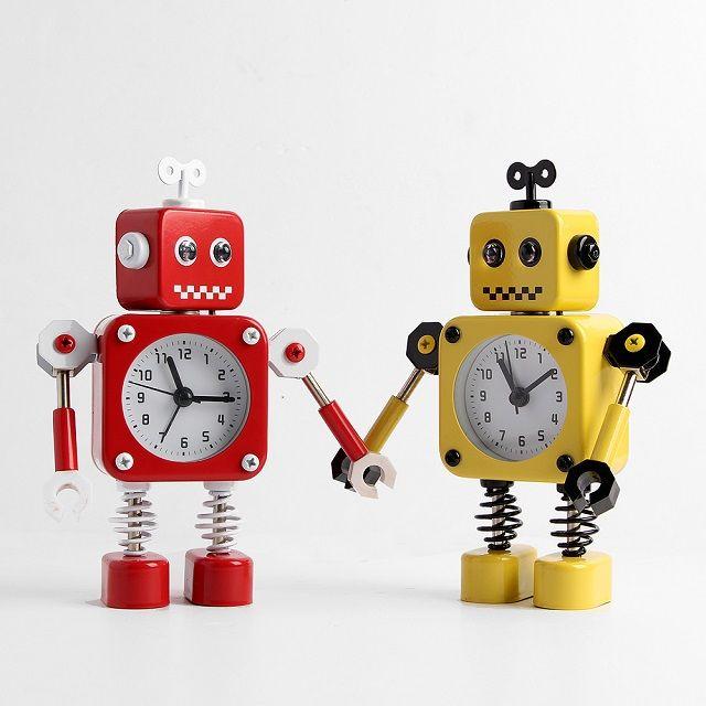 [현재분류명],깜찍한네모로봇 인테리어 알람 탁상시계,탁상시계,알람시계,벽시계,인테리어벽시계