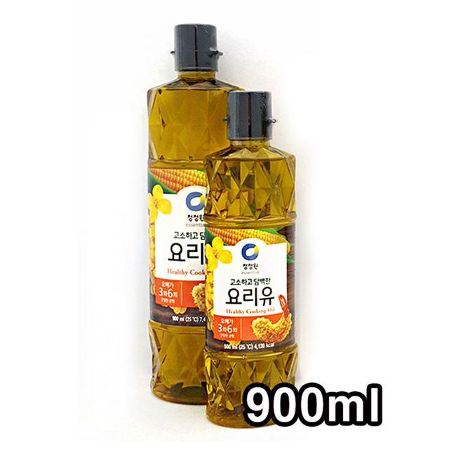 W 고소하고 담백한 청정원 튀김요리 요리유 900ml