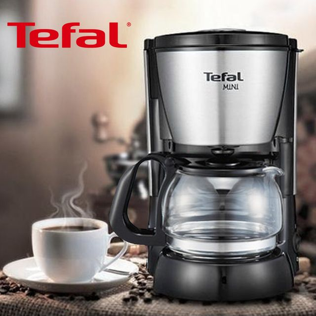W 테팔1108 미니 스테인레스 스틸 커피메이커