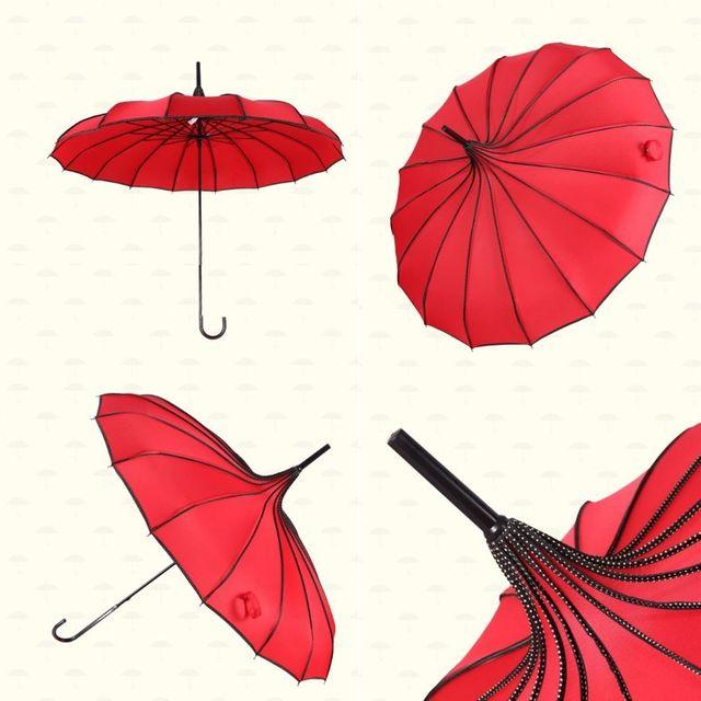 W 썬샤인 긴곡자 16K 장우산 소풍 방품 웨딩 우산 양산