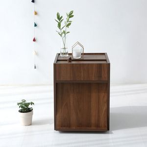 EZBO BESIDE 캐비넷 협탁 코코아윌넛 침대협탁 원목