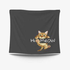 깔끔한 귀여운 고양이 프린트 가림막 포스터 택 특대