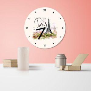 에펠탑 무소음 인테리어 벽걸이 시계