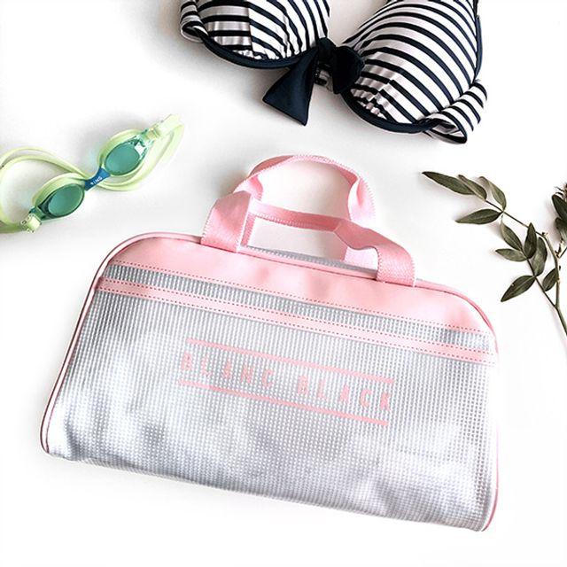 모던스타일 수영가방-핑크 [제작 대량 도매 로고 인쇄 레이저 마킹 각인 나염 실크 uv 포장 공장 문의는 네이뽕]