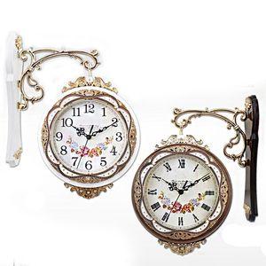 유러피언 인테리어 소품 벽시계 엔틱 양면 시계