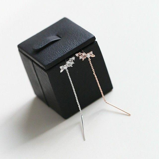 韩国直邮 (银针)条纹耳环(RG)