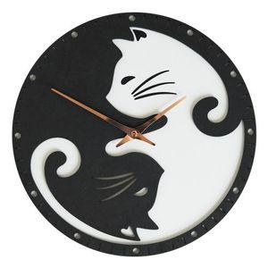 블랙앤화이트 고양이 벽시계 (Black White CAT Clock)