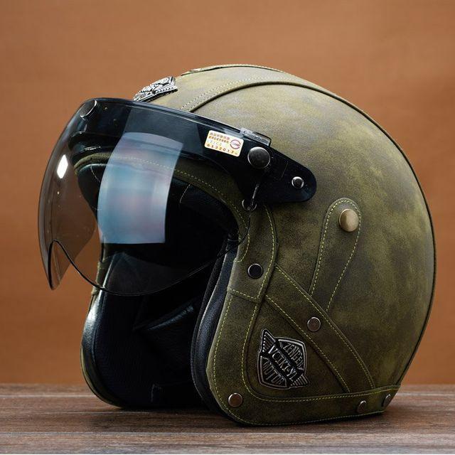 [해외] 할리 복고풍 왕자 오토바이 헬멧 가죽