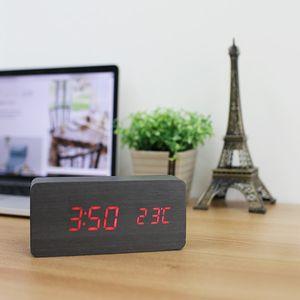 소리에 반응하는 원목디자인 LED시계 Simply SQUARE