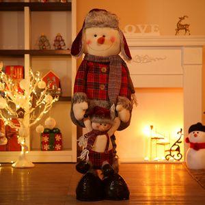 눈사람 인형 130cm 키높이조절 크리스마스장식인형