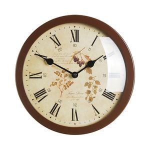 타임데코 Round Clock Flower6(BR) 벽시계