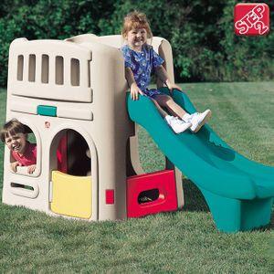즐거운 실내 놀이터 스텝2 작은집 미끄럼