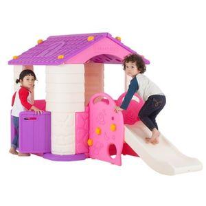 유아 놀이집 플레이 하우스 미끄럼틀 세트 바이올렛