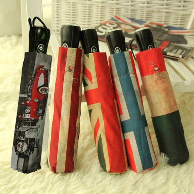W 모던플래그 4단 자동열림 반자동접이식 우산