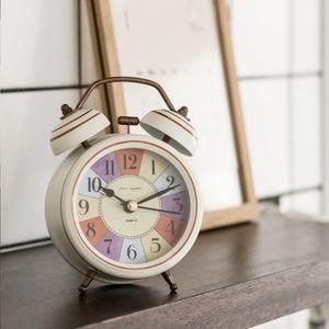 무소음 자명종 알람 인테리어 탁상 책상 시계 화이트