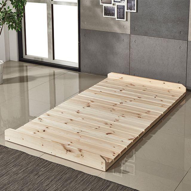 (리버퍼니쳐) 편백 히노끼 원목 다기능 깔판 침대 SS