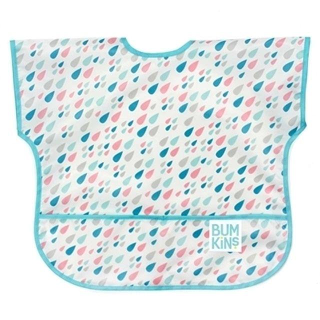 (041223)(범킨스)반팔 턱받이-레인드롭 아기 유아 식기 어린이