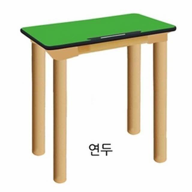 하모니 안전 하모니1인용책상(기본다리)-초4_6학년(연두)