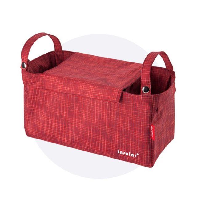 유모차 정리함 가방 걸이 다용도 수납 파우치 레드