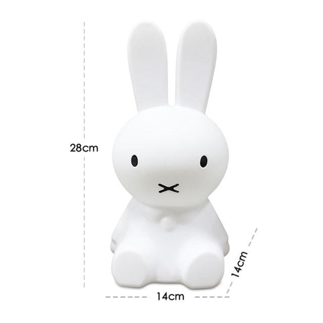 [해외] 미피 토끼 무드등 LED 조명 수유 수면등 일반형 28cm
