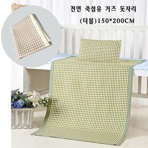 천연 죽섬유 거즈 침대패드 돗자리(더블) 150x200cm