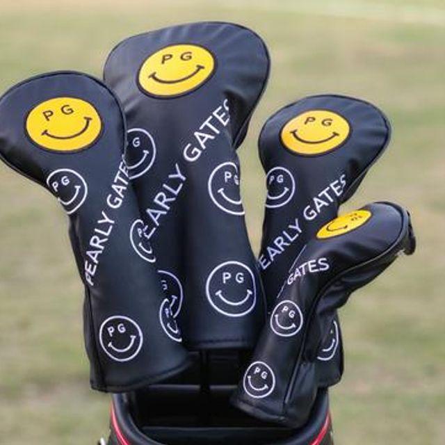 [해외] 골프용품 웃는얼굴 헤드 1번 3번 5번 유틸 커버세트5