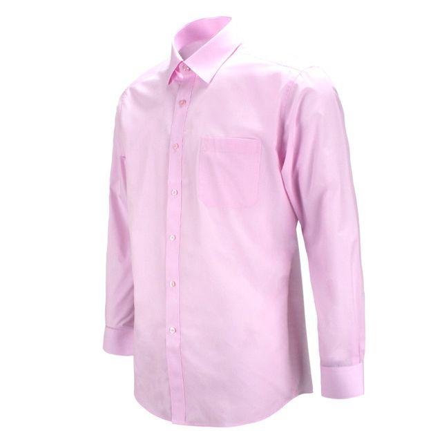 레귤러 데일리 분홍 핑크색 긴팔셔츠_RF1107