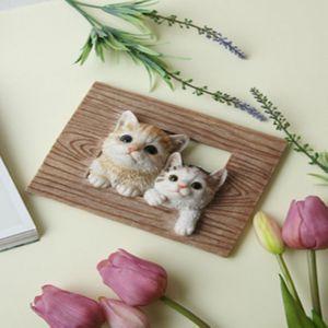 입체 고양이 두마리 액자 1P 인테리어 장식 소품