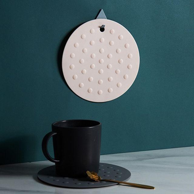 W 미끄럼방지 주방다용도 실리콘 컵받침 테이블 걸이형